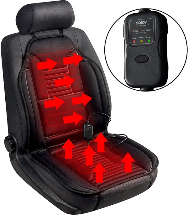 Car seat with heater