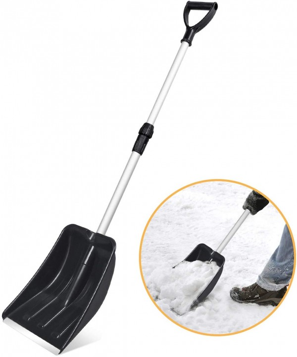 Micbox Snow Shovel with 46'' Adjustable Aluminum Handle