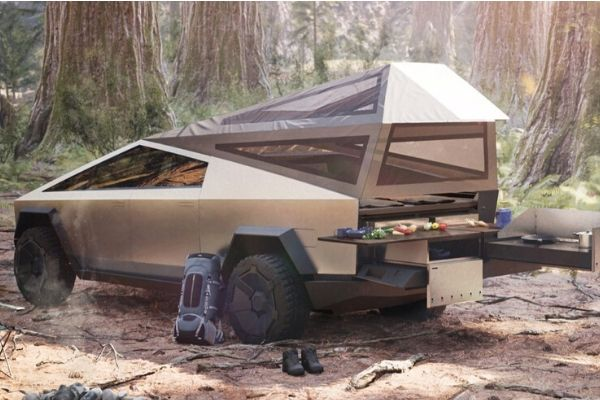 Tesla Cybertruck Is a Camping Marvel but Watch out for Smokey the Bear