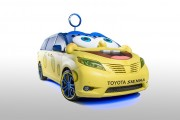 The SpongeBob Movie 2015 Toyota Sienna.