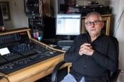 Elliot Scheiner in his home studio
