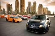 The Nissan Juke-R trounced some supercars in Dubai in a fun video.