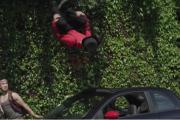 Parkour stunt