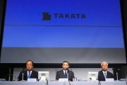 Takata CEO Shigehisa Takada apologizes for the deaths caused by the company's faulty airbags at a news conference on June 25, 2015.