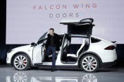 Tesla CEO Elon Musk And Model X Electric SUV
