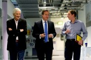 Prime Minister David Cameron Visits The Dyson Factory