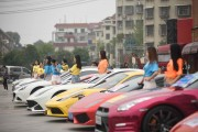 Boss Organizes Over 20 Luxury Sports Cars To Promote Resort In Changsha