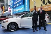 Ford CEO Alan Mulally Debuts The New Ford Fusion