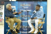 SiriusXM's 'Town Hall' With Jay Leno Hosted By Jamie Foxx At Leno's Garage In Los Angeles; Town Hall To Air on Jamie Foxx's SiriusXM Channel The Foxxhole