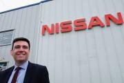 Health Secretary Andy Burnham Visits Nissan