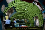 Plane Head Of China's First Airbus Is Completed In Chengdu