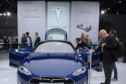 The new Tesla Model S at 2015 IAA Frankfurt Auto Show
