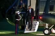 Obama Returns To Washington From Chicago Weekend