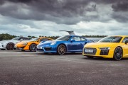 2017 Nissan GT-R vs Porsche 911 Turbo S vs McLaren 570S vs Audi R8 V10 Plus