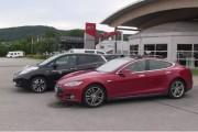 Tesla Model 3 and Nissan Leaf