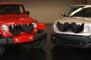 Jeep displays its support to the Movember Foundation by growing a moustache.