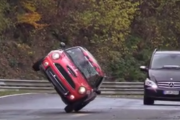 Two-wheeled Mini Cooper laps Nurburgring