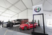 View of the Alfa Romeo booth at the Coca-Cola Backyard BBQ hosted by Bobby Flay