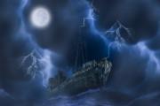 Dark Mysterious Ship