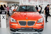 A BMW X1 at the Indonesia Motor Show in 2014. The 2018 BMW X2 builds on this signature design by giving it a sportier, more aggressive look.