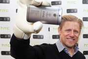 Peter Schmeichel and Emma Byrne HTC Appearance