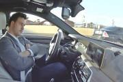 Autonomous 2017 BMW 5 Series prototype on the Road