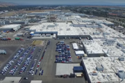 Tesla Factory by Drone in 4K