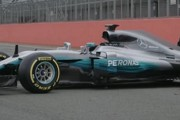 F1 2017 - Mercedes W08 launch and on track at Silverstone