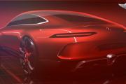 Mercedes-AMG GT4 Concept four-door sports car - teaser