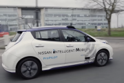 Nissan Leaf Autonomous Drive Demonstration in London
