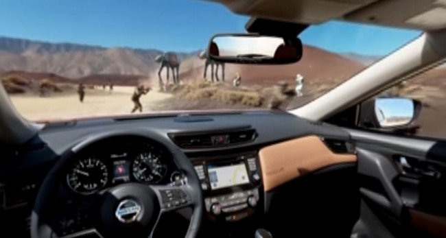 A Nissan Rogue Fights Stormtroopers in Virtual Reality!