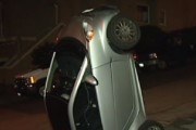 Smart Car Tipping in San Francisco