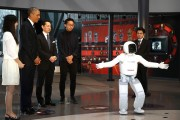 President Obama Meets Robot in Japan