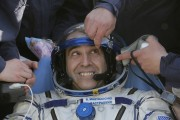 U.S. astronaut Rick Mastracchio after Soyuz spacecraft landing