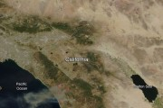 Southern California Wildfires Visible from Space
