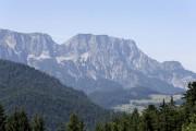 Berchtesgadener Alp mountain 'Untersberg' is seen from Berchtesgarden