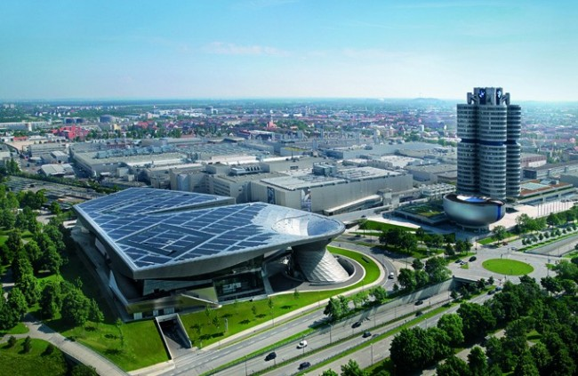 BMW Welt Aerial View
