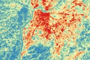 Louisville Temperatures Shown by Satellite